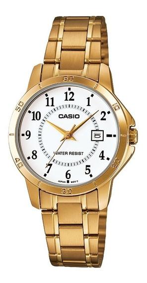 Relógio Analógico Feminino Casio Ltp-v004g-7budf