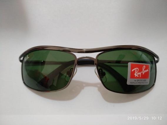 Óculos De Sol Ray Ban 8012 Armação Grafite Metal Lente Crist