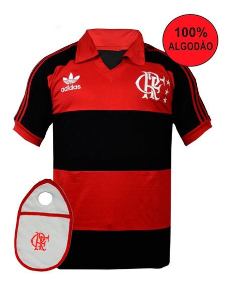 Camisa Retrô Flamengo 88 S/ Patrocinio 100% Algodão + Brinde