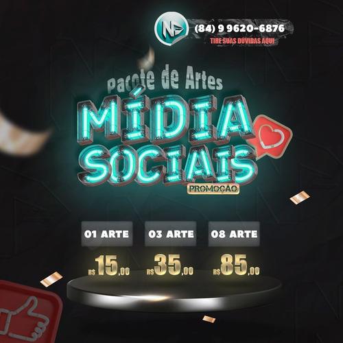 Imagem 1 de 5 de Pacote De Arte Promocional Para Mídia Sociais