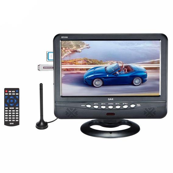 Tv Digital 9 Polegadas Portatil 12 Volts Usb Controle Remoto