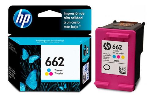Cartucho 662 Hp Original Tricolor Para Impresora 2545....