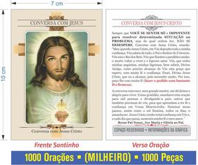 Conversa Com Jesus - Milheiro Oração (1000 Peças) - Santinho