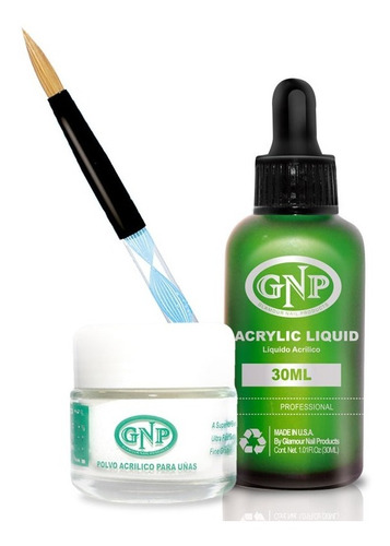 Polvo Acrilico 20gr Transp, Liquido 30ml Gnp, Dappen Y Pince