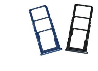 Charola Bandeja Sim Sd Samsung A60 A70 A80 A90 Azul Original