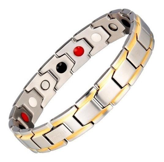 Pulseira Do Equilíbrio Bracelete Magnético 4 Elementos