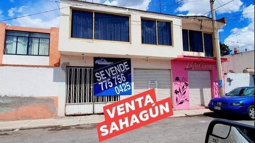 Casa En Venta En Sahagún Hgo., Centrica Con Local Comercial