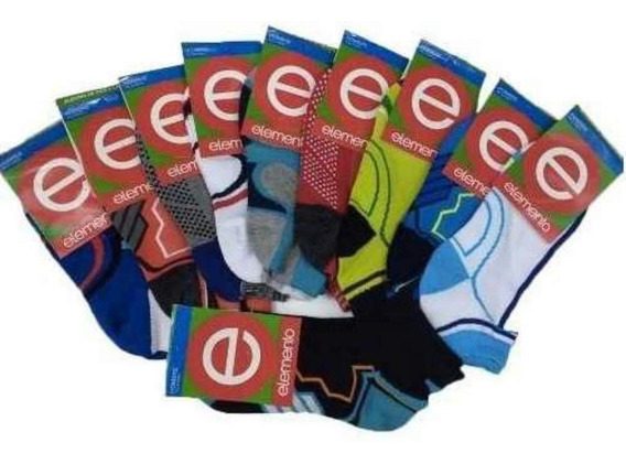 Pack X Docena - Medias Soquetes Estampadas - Elemento