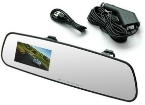 Retrovisor Camera Filmadora Espia Veicular Hd Dvr Monitor