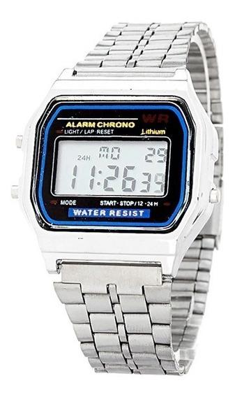 Lote 10 Reloj Caballero Mujer Digital Metalico +10 Estuches