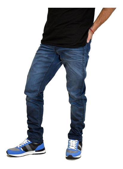 Jean Pantalon Elastizado Slim Fit Moda Hombre Mistral 15971