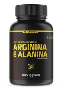 Arginina + Alanina No2 Com 100 Cápsulas De 1000mg Natuforme
