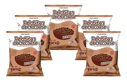 Imagen 1 de 5 de Pelotitas De Chocolate Inflada Yin Yang 50gr Combo X 5un
