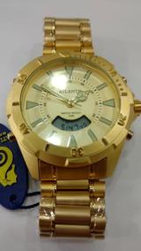 Relógio Original Atlantis Ana Digi Dourado Estil T. Sky
