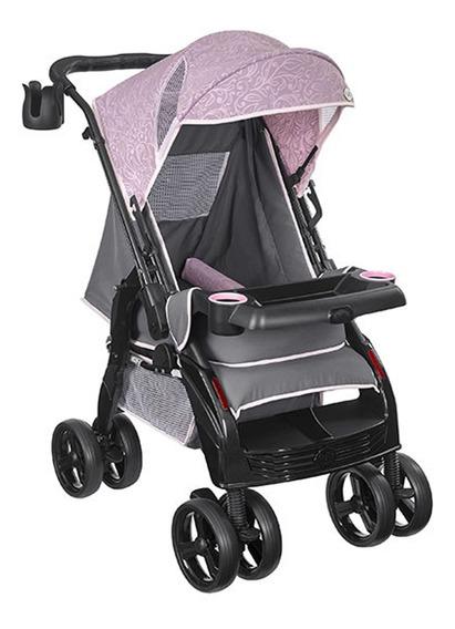 Carrinho De Bebê Passeio Berço Até 15 Kg Rosa Menina Tutti