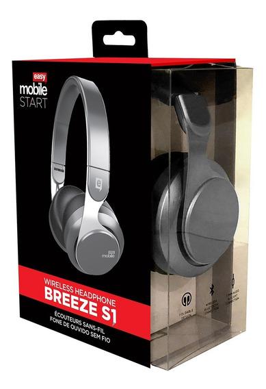 Headphone Easy Mobile Breeze S1 Preto Fone De Ouvido