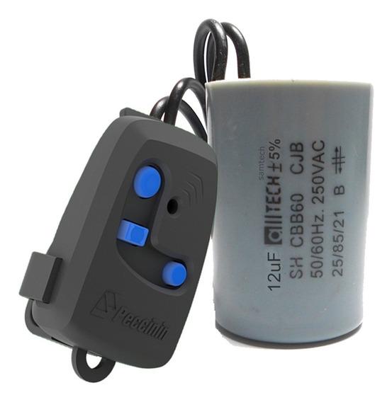 Capacitor 12uf E Controle Peccinin Tx 3c Para Motor Gatter
