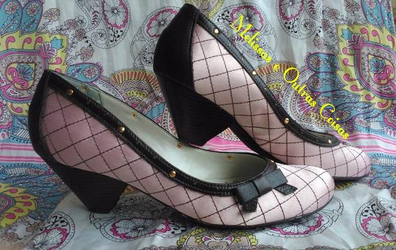 Sapato Boneca Cravo E Canela, Rosa, 37
