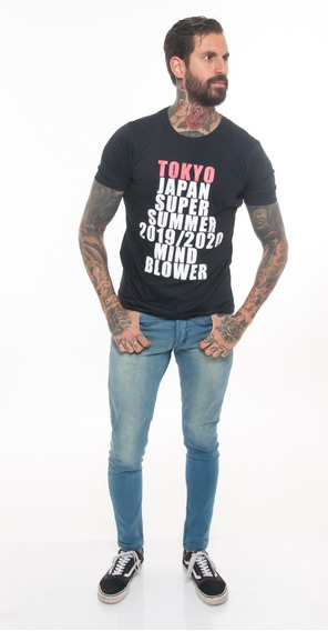 Remera Estampada Hombre Manga Corta Outside Tokyo #1848