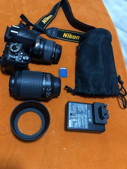 Câmera Nikon D3100 Duas Lentes + Tripé + Mochila