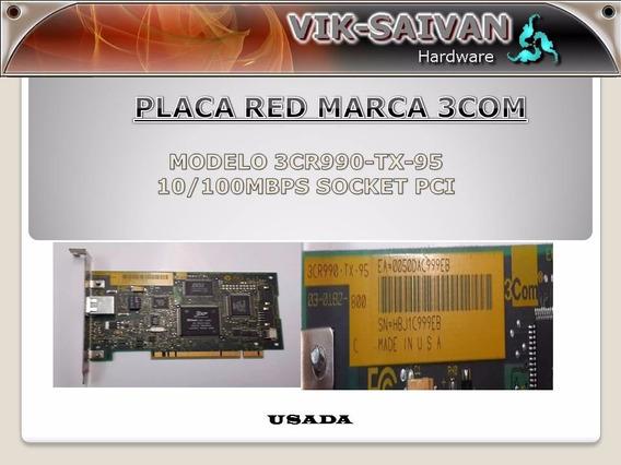 Placa De Red 3com 3cr990-tx-95 10/100 Pci 48