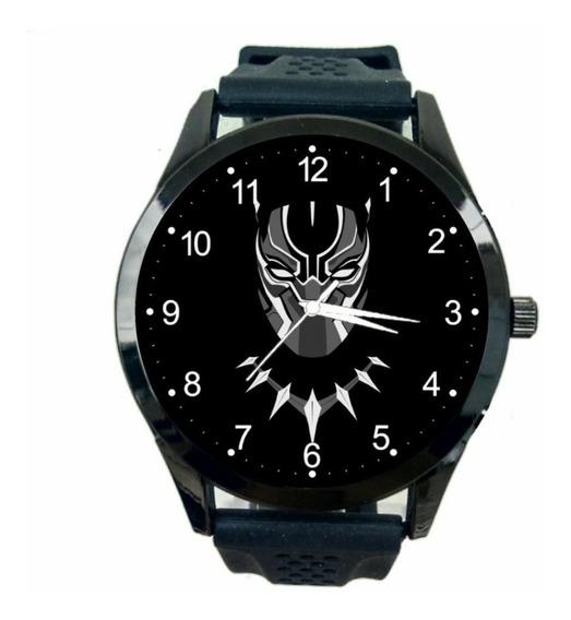 Relógio Pantera Negra Masculino Hq Marvel Black Panther T765