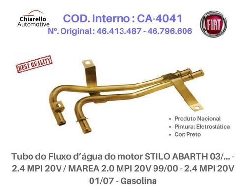 Tubo Dágua Stilo Abarth 2.4 Mpi Marea/week Elx Hlx Gasolina