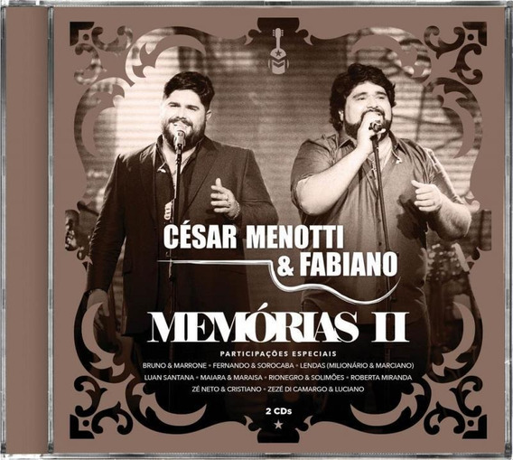Cd César Menotti & Fabiano - Memórias Ii (2 Cds)
