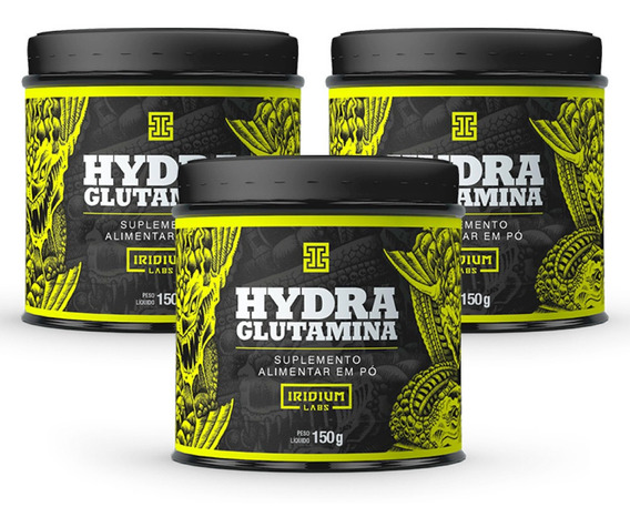 Kit 3x Hydra Glutamina 150g - Kit Suplemento Imunidade