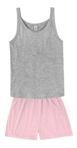 Pijama Curto Feminino Em Malha Hering