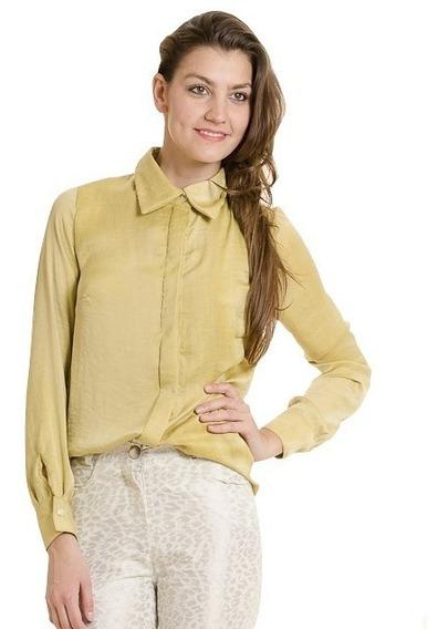 Camisa De Seda Dijon Nueva