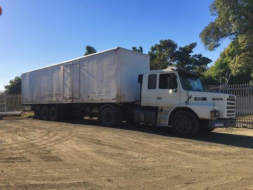Conjunto Scania 112 + Baú
