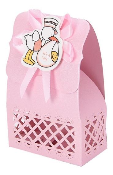 Lembrancinha Chá De Bebê E Maternidade 100 Caixinhas Rosa