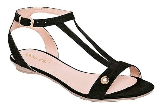 Sandalia Dama Huarache Zapato Mujer 000286 Negro