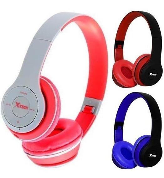 2 Fone De Ouvido Com Mp3 Player Rádio Fm Xtech Ea94 Wireless