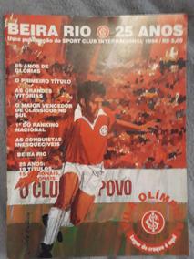 Revista Beira Rio 25 Anos C/ Pôster Do Sc Internacional 1976