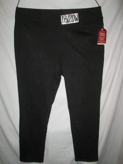 Pantalon Jeggins Negro Talla 18/20 W (38/40) Faded Glory