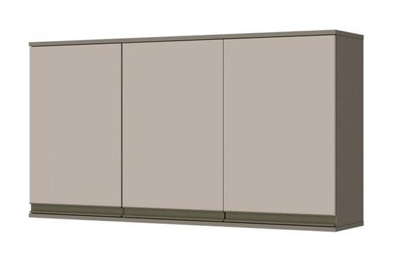 Armário De Cozinha Aéreo Henn Connect C/ 3 Portas 120cm Cor