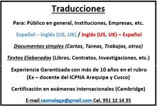 Traducciones Español Inglés Y Viceversa