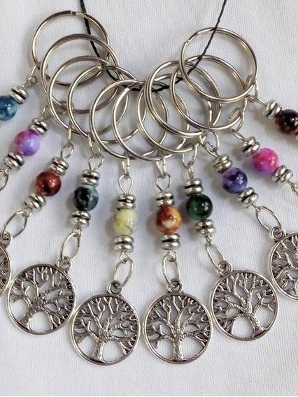 10 Llaveros Arbol Vida/ Perlita Color Souvenirs Toda Ocasión