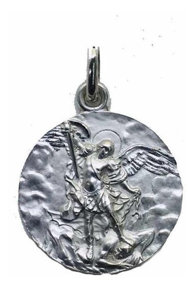 Medalla Plata 925 San Miguel Arcángel #328 Bautizó Comunión