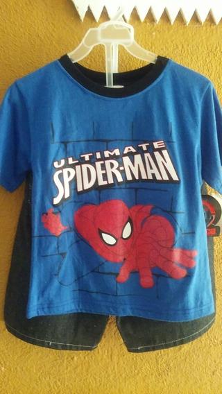 Conjunto Playera Y Short Spiderman
