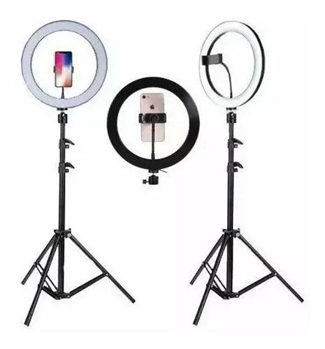 Kit Completo Ring Light C/ Tripé Dimmer Selfie Pro Youtuber