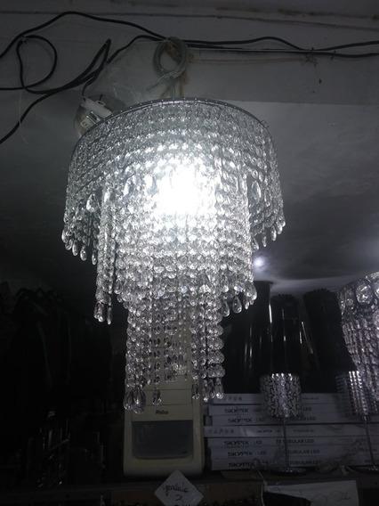 Lustre Inox Cristal Acrilico Lampada Led