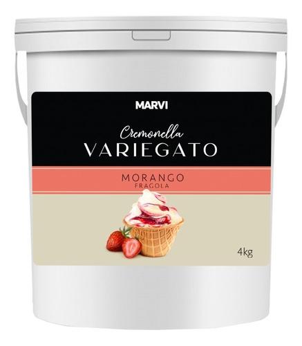 Variegato Morango 4,0 Kg - Marvi Cremonella