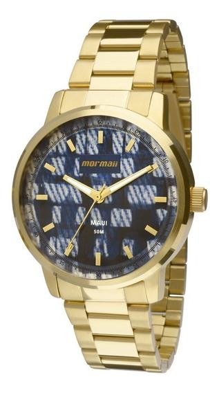 Relógio Feminino Mormaii Mo2036hu/4a Analógico Dourado