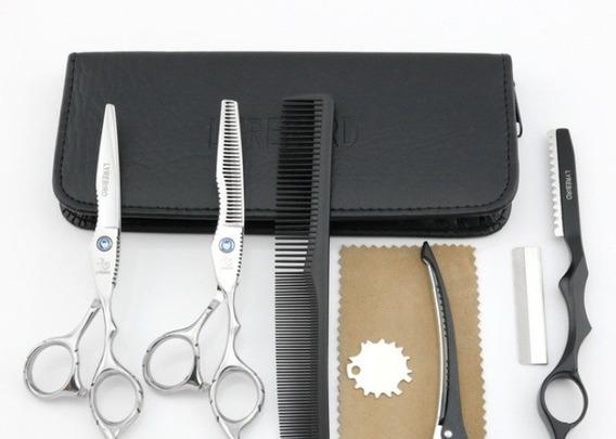 Kit 2 Tesouras Cabelo Cabeleireiro Profissional Qualidade