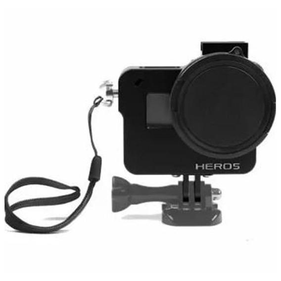 Frame Proteção Alumínio+lente Uv Gopro 5 Black-imp. Hero 5..
