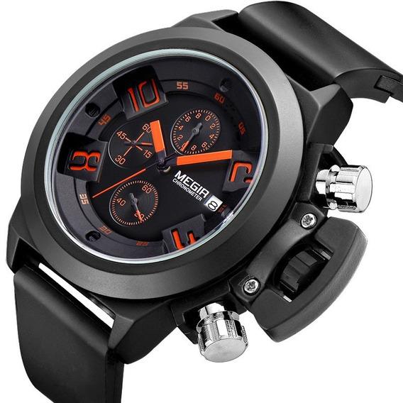 Relógio Masculino De Pulso Megir - Bwl6yuwr6