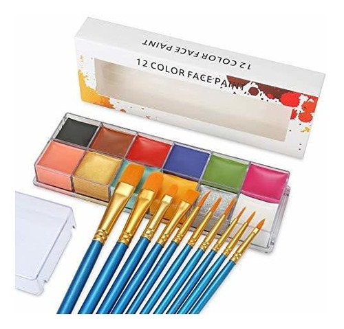 Imagen 1 de 6 de Aceite De Pintura Para Cara 12 Colores Pintura Artistica Fie